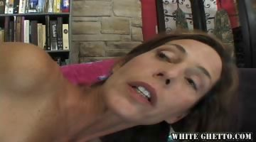 Porno Video of Hairy Petite Brunette Milf Sucks And Likes Anal Creampie.