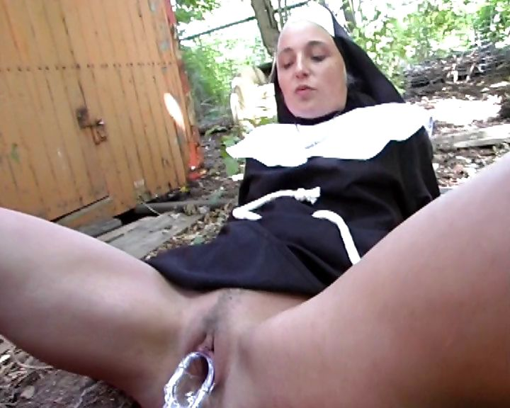 Sex Movie of Kinky And Naughty Nun Gets A Speculum Shoves In Her Wet Cunt
