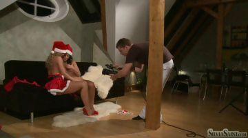 Porno Video of Silvia And Teajul - Two Sexy Santa Girls