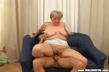 Porno Video of Fat Gilf Helps Out A Young Guy, Paying Him For A Good Fuck!
