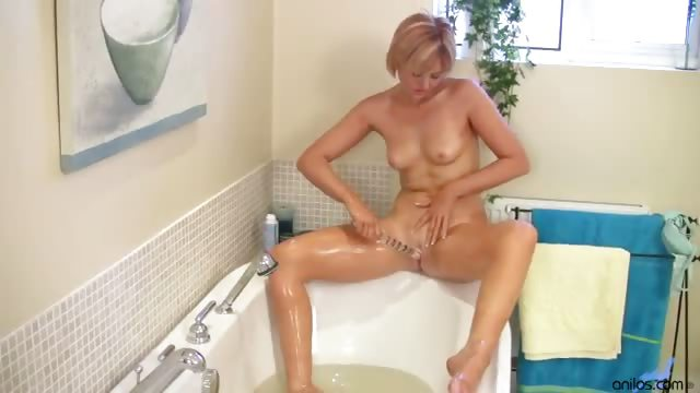 Porno Video of Mom Takes Her Dildo In The Tub