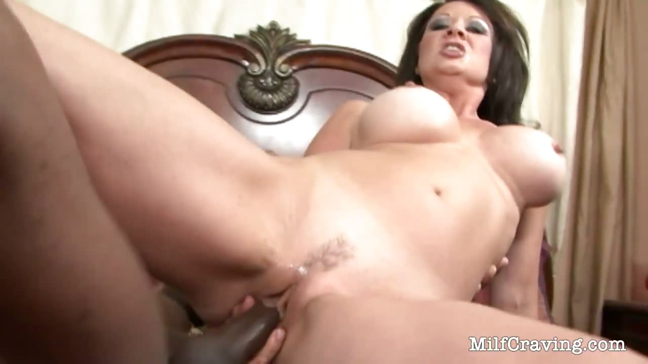 Porn Tube of Busty Milf Sits On A Big Black Cock