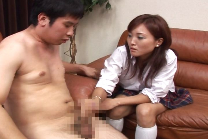 Porn Tube of This Sexy Asian Schoolgirl Gives An Absent-minded Handjob
