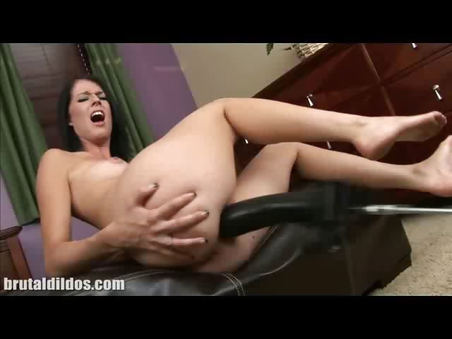 Porn Tube of Clara Dildo Machine Fucking