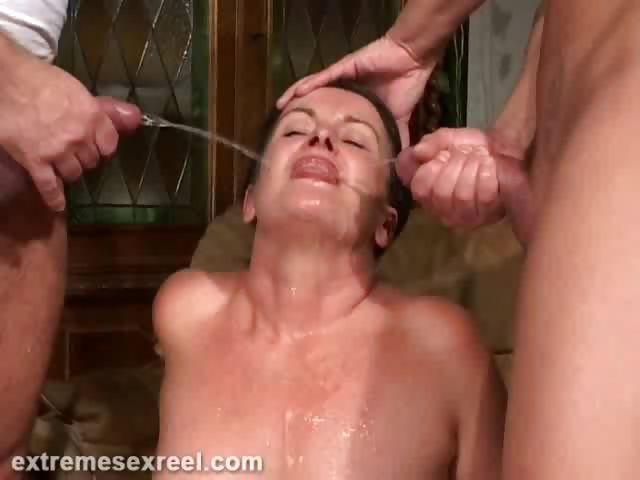 Porno Video of Slut Drinking Two Piss Loads