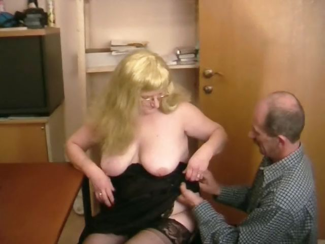 Porno Video of Mature German Chubster Knows That Spit Makes For Great Lube