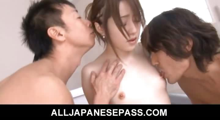 Sex Movie of Sweet And Innocent Teen Ria Sakurai Fucked In The Bathroom