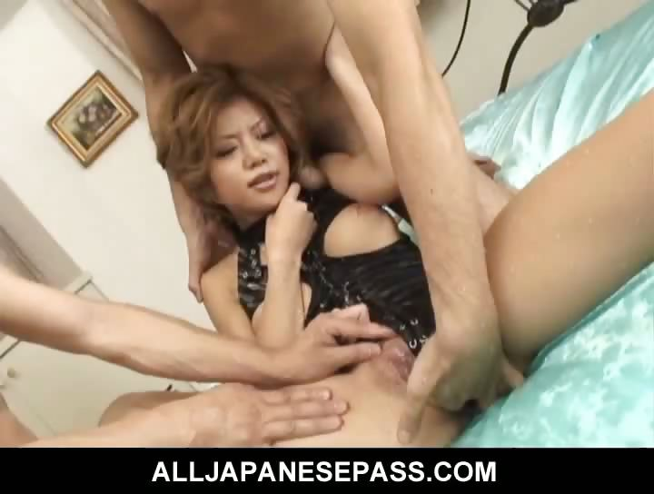 Porno Video of Horny Akane Hotaru Double Teamed By Horny Guys