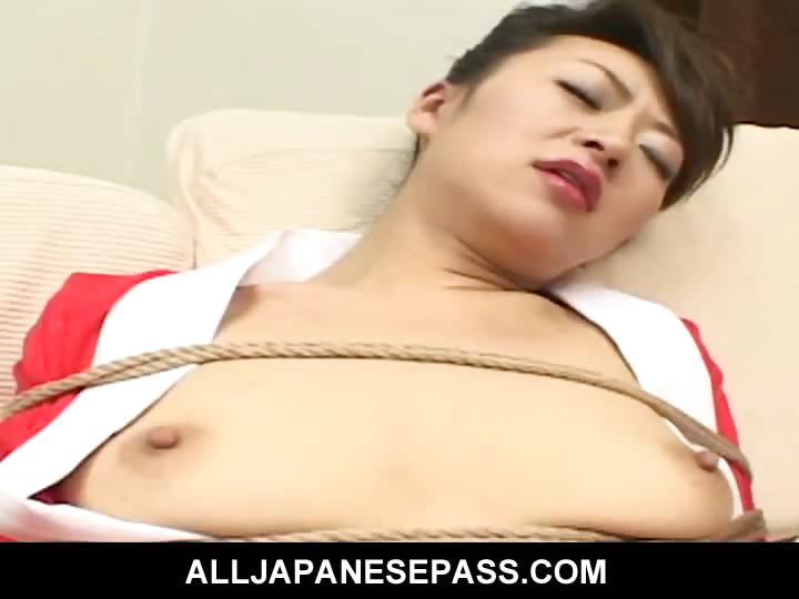 Porn Tube of Bound Japanese Cougar Is Toyed And Fucked In The Ass