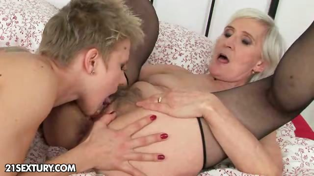 Porno Video of Good Night Kiss From Granny