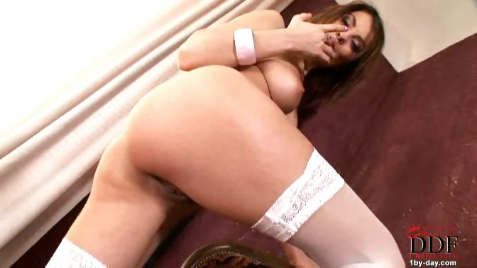 Porno Video of Sweet Brunette Babe Jasmine Rouge Shows You Her Hot Slender Body, Showing Her Firm Tits & Opening Up Her Juicy Hairy Pink Pussy! This Hot Chick Loves Posing In Her Stockings, Because She Believes That Her Sexy Shape Is Best Emphasized This Way. She Gets S