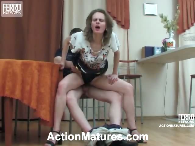 Porno Video of Salacious Mature Gal Taking Mind-blowing Pleasure From Cock-riding On Floor
