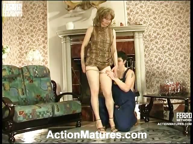 Porno Video of Lewd Mom In Silky Hose Giving Legjob Burning With Desire For Hard Drilling