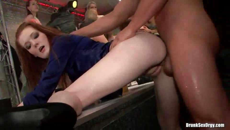 Porno Video of Redhead Gets Fucked At An Orgy