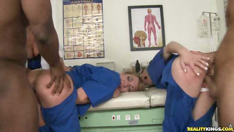 Porno Video of The Nurses And Dr. Krissy Take Turns Getting Pounded.