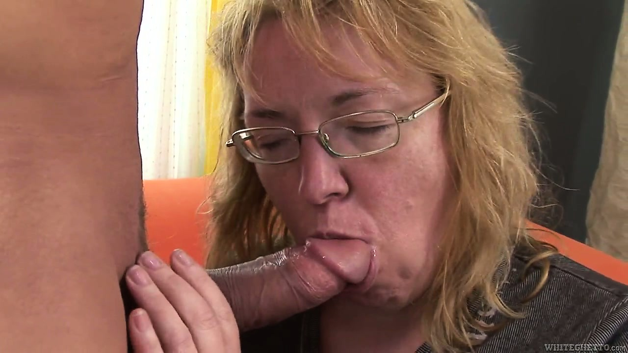 Porn Tube of Chubby Mature Blonde Bitch Gets A Nice Piece Of Young Meat To Play With