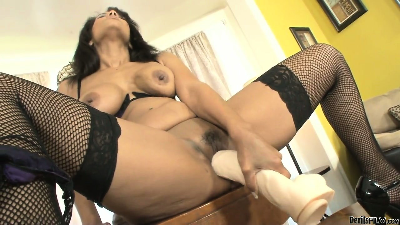 Porno Video of Wonderful Brunette With Sublime Tits Has Lots Of Fun With Huge Sex Toys