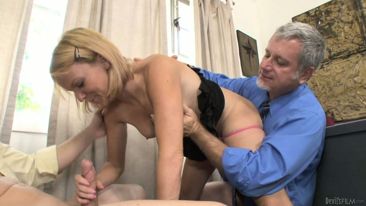 Porn Tube of She Sucked The Son's Cock While The Dad Ate Her Sweet, Hot Pussy