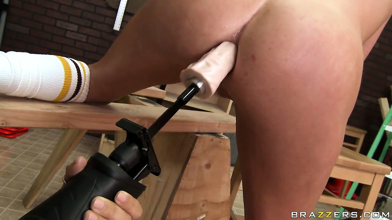 Porn Tube of Kinky Lesbian Bitch Bends Over To Get Her Ass Destroyed By A Fucking Machine