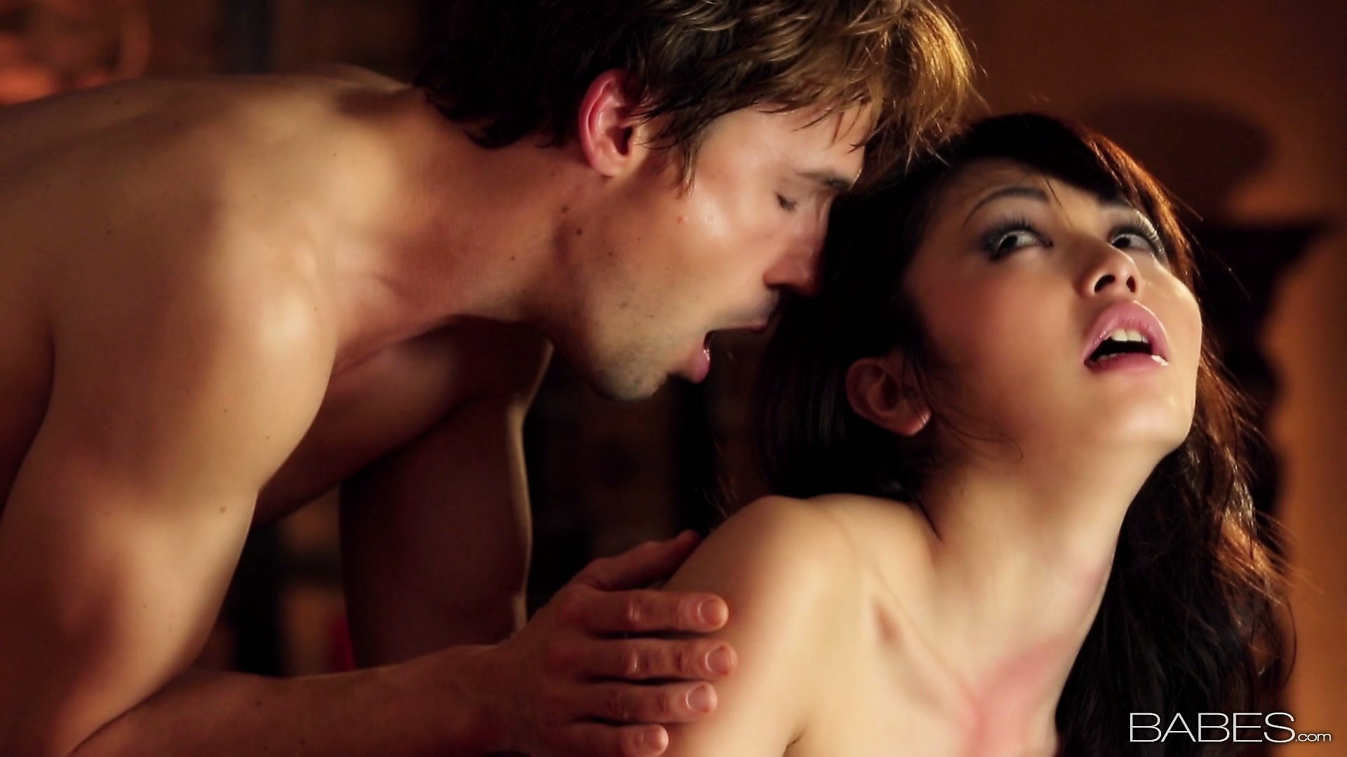 Porn Tube of Sweet Asian Couzie In Stockings Lies In Bed With Young And Horny Guy