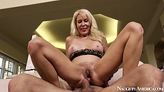 Erica Lauren is a naughty old lady and likes that young dick in her twat