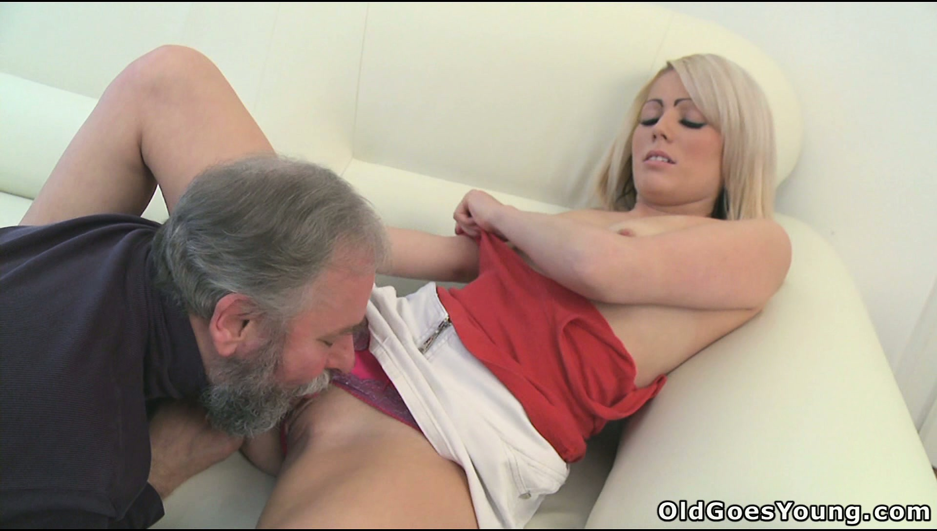 Porn Tube of Blonde Cutie Nona Gets Her Tits Sucked And Cunny Licked By An Old Guy