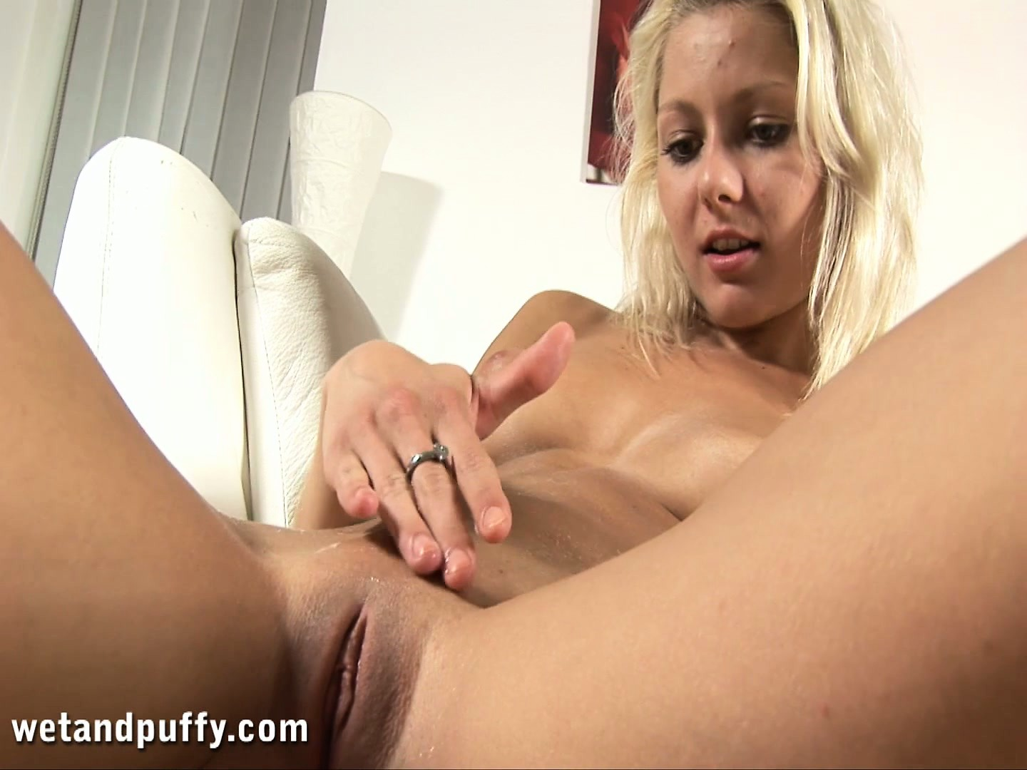 Porno Video of Ingrid, A Dazzling Blonde With Superb Tits And Ass, Loves To Finger Her Tight Pussy