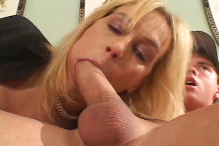 Porn Tube of Plump Cougar Gets Her Young Boy-toy To Fuck Her On The Couch