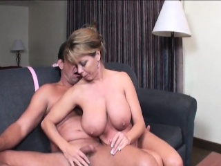 Gorgeous Housewife With Huge Boobs Offers A Helping Hand A Helping Hand