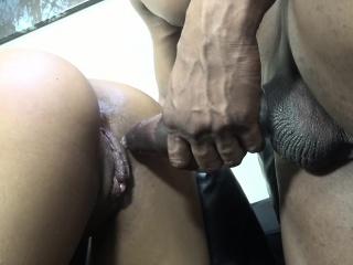 Sexy Brunette Girl With A Nice Ass Sophia Fior Enjoys A Black Pole