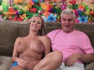 Blonde Beauty With A Divine Ass Nicole Aniston Gets Her Holes Devoured