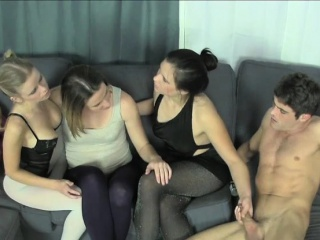 Three Sultry Babes Take Lesbian Sex And Please Lance Hard Cock