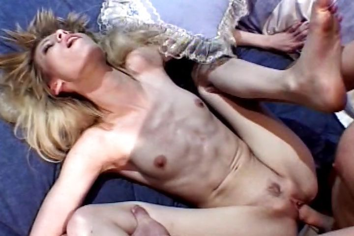 Porno Video of Bony Blondie Gets Rattled During A Rough And Hard Pounding