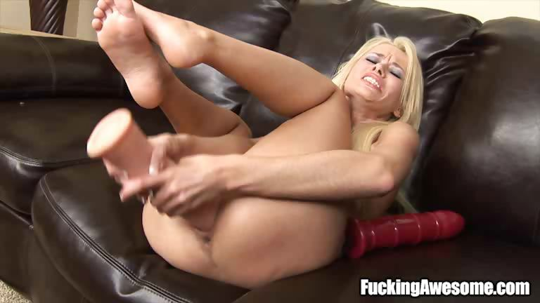 Porn Tube of Blonde Babe Rebecca Blue Spreads Her Pussy For You To Fuck With. While Waiting For Her Big Cock, Rebecca Plays Her Pussy First Using A Big Dildo.
