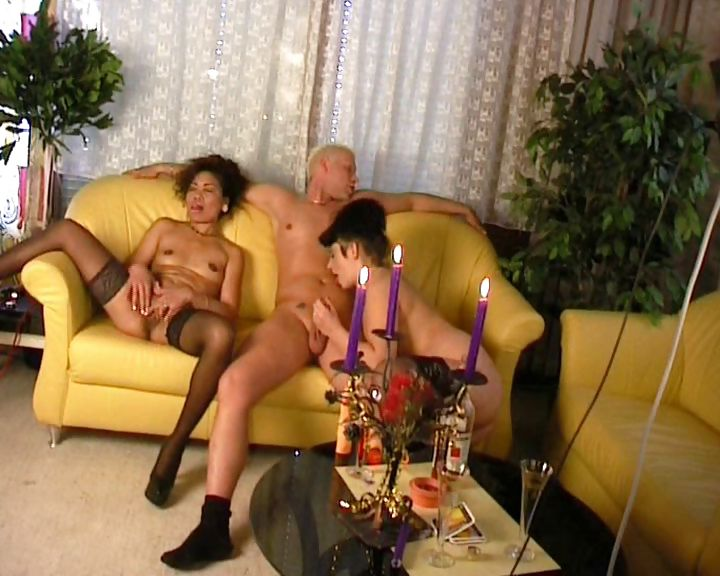 Porn Tube of Whore In Stockings Lezes Out And Fucks An Older Dirty Man