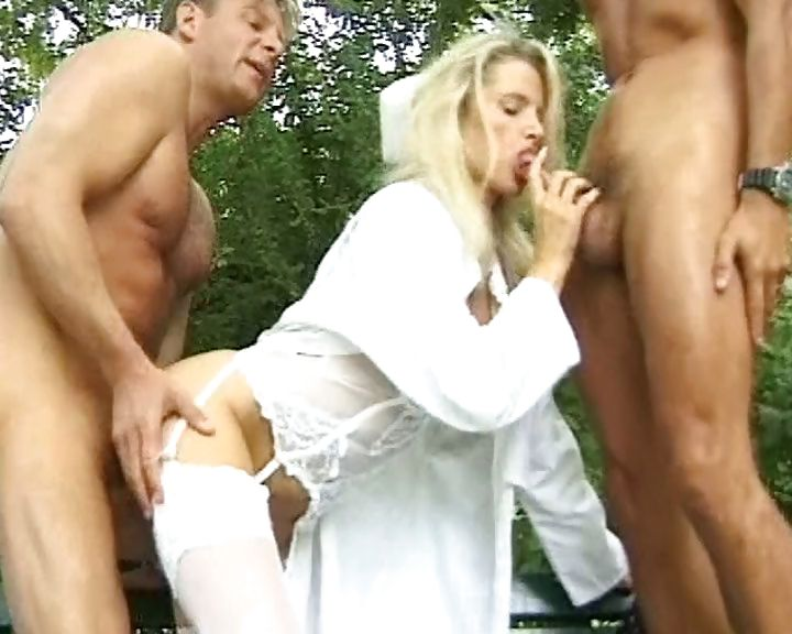 Porno Video of Kinky Nurse From Germany Bones Two Of Her Patients Outdoors