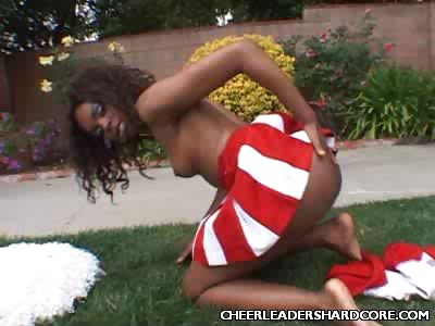 Porno Video of Clit Buffing Ebony Cheerleader