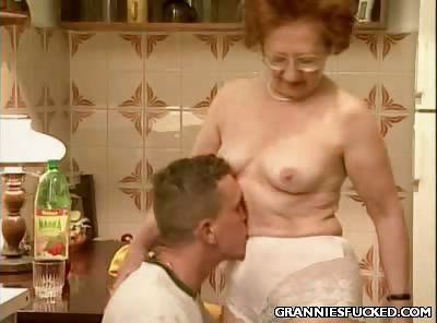 Porno Video of Kitchen Gilf Fucking